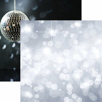 Reminisce - Its Party Time Collection - 12 x 12 Double Sided Paper - Silver Bokeh