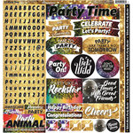 Reminisce - Its Party Time Collection - 12 x 12 Cardstock Stickers - Combo