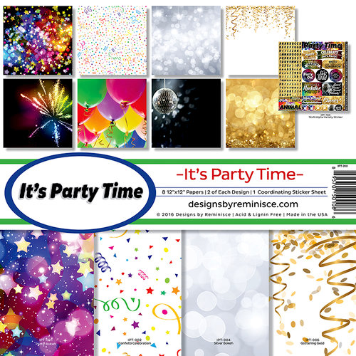 Reminisce - Its Party Time Collection - Page Kit
