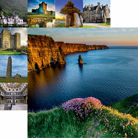 Reminisce - Ireland Collection - 12 x 12 Double Sided Paper - Cliffs of Moher