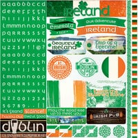 Reminisce - Ireland Collection - 12 x 12 Cardstock Stickers