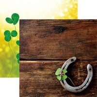Reminisce - Irish Sass Collection - 12 x 12 Double Sided Paper - Four Leaf Clover