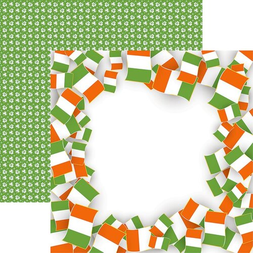 Reminisce - Irish Sass Collection - 12 x 12 Double Sided Paper - Irish Flag
