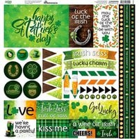 Reminisce - Irish Sass Collection - 12 x 12 Cardstock Sticker Sheet - Elements