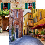 Reminisce - Italy Collection - 12 x 12 Double Sided Paper - Old Town