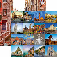 Reminisce - Italy Collection - 12 x 12 Double Sided Paper - Italian Sites