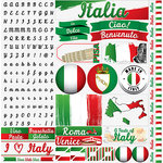 Reminisce - Italy Collection - 12 x 12 Cardstock Stickers - Elements