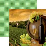 Reminisce - Italia Collection - 12 x 12 Double Sided Paper - The Vineyard