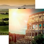 Reminisce - Italia Collection - 12 x 12 Double Sided Paper - The Colosseum