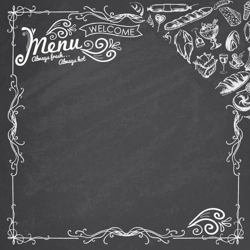 Reminisce - In the Kitchen Collection - 12 x 12 Double Sided Paper - The Menu