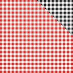 Reminisce - In the Kitchen Collection - 12 x 12 Double Sided Paper - Red and Black Gingham