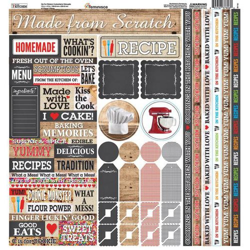 Reminisce - In the Kitchen Collection - 12 x 12 Cardstock Stickers - Multi