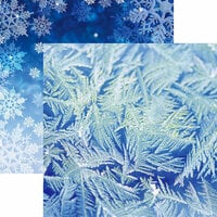 Reminisce - Jack Frost Collection - 12 x 12 Double Sided Paper - Blue Frost