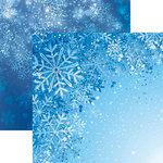 Reminisce - Jack Frost Collection - 12 x 12 Double Sided Paper - Snowflakes
