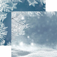 Reminisce - Jack Frost Collection - 12 x 12 Double Sided Paper - Snowscape
