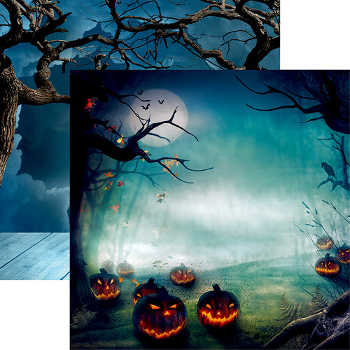 Reminisce - Jack's Revenge Collection - Halloween - 12 x 12 Double Sided Paper - Jack in the Forest