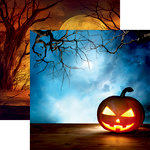 Reminisce - Jack's Revenge Collection - Halloween - 12 x 12 Double Sided Paper - Glowing Jack