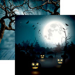 Reminisce - Jack's Revenge Collection - Halloween - 12 x 12 Double Sided Paper - Jack At Midnight