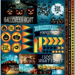 Reminisce - Jack's Revenge Collection - Halloween - 12 x 12 Cardstock Stickers - Elements