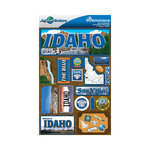 Reminisce - Jetsetters Collection - 3 Dimensional Die Cut Stickers - Idaho