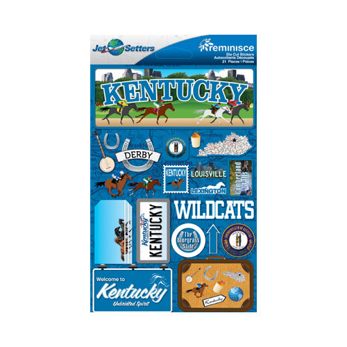 Reminisce jetsetters collection 3 dimensional die cut stickers kentucky