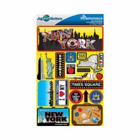 Reminisce - Jetsetters Collection - 3 Dimensional Die Cut Stickers - New York