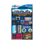 Reminisce - Jetsetters Collection - 3 Dimensional Die Cut Stickers - Pennsylvania