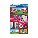 Reminisce - Jetsetters Collection - 3 Dimensional Die Cut Stickers - Wisconsin
