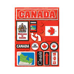Reminisce - Jetsetters Collection - 3 Dimensional Die Cut Stickers - Canada