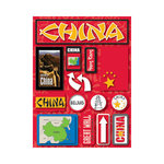 Reminisce - Jetsetters Collection - 3 Dimensional Die Cut Stickers - China