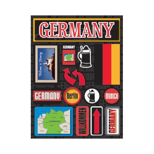 Reminisce JSTI-057 Jet Setters Dimensional Stickers-Germany