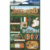 Reminisce - Jetsetters Collection - 3 Dimensional Die Cut Stickers - Ireland