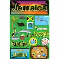 Reminisce - Jetsetters Collection - 3 Dimensional Die Cut Stickers - Jamaica