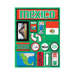 Reminisce - Jetsetters Collection - 3 Dimensional Die Cut Stickers - Mexico