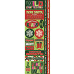 Reminisce - Jungle All the Way Collection - Christmas - Cardstock Stickers - Combo