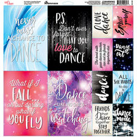 Reminisce - Just Dance Collection - 12 x 12 Cardstock Stickers - Elements