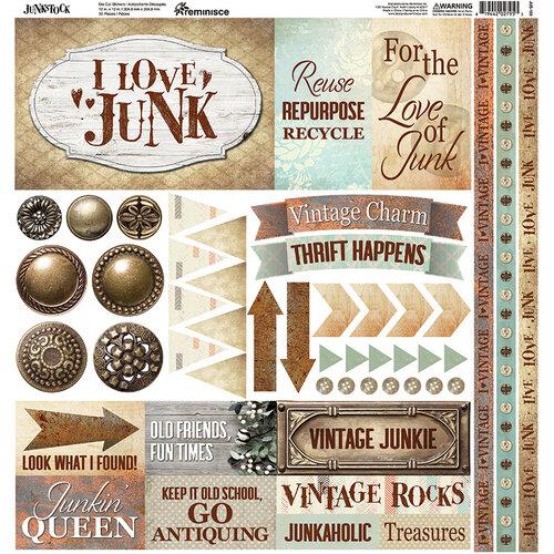 Ella and Viv Paper Company - Junkstock Collection - 12 x 12 Cardstock Stickers - Elements