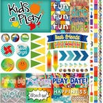 Reminisce - Kids at Play Collection - 12 x 12 Cardstock Sticker Sheet