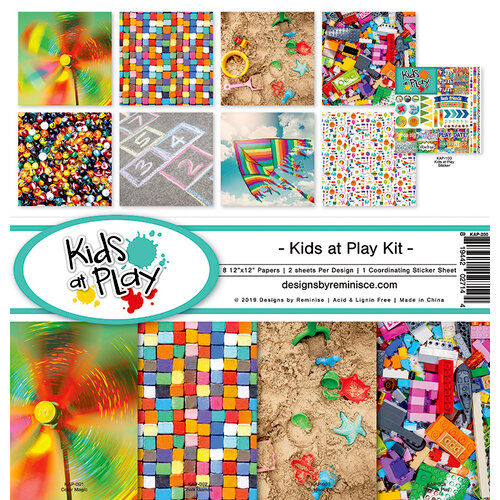Reminisce - Kids at Play Collection - 12 x 12 Collection Kit