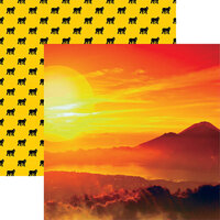 Reminisce - King of the Jungle Collection - 12 x 12 Double Sided Paper - African Sunset