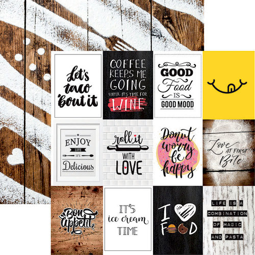 Reminisce - Love At First Bite Collection - 12 x 12 Double Sided Paper - Tasty