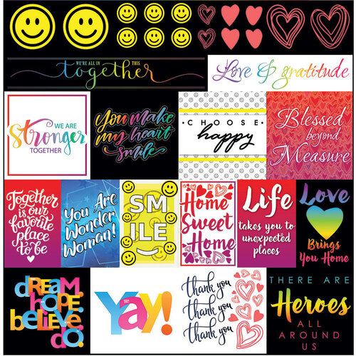 Reminisce - Love and Gratitude Collection - 12 x 12 Elements Sticker