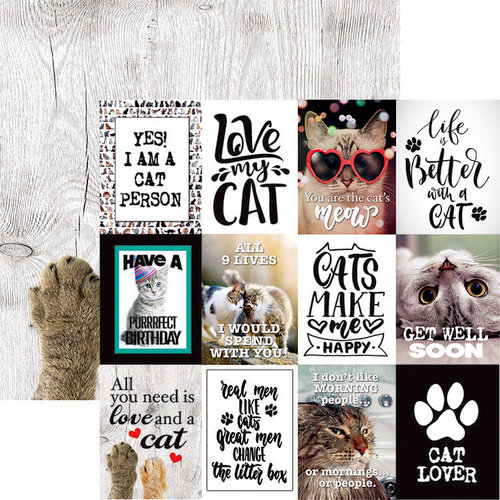 Reminisce - Love My Cat Collection - 12 x 12 Double Sided Paper - The Cat