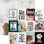 Reminisce - Love My Cat Collection - 12 x 12 Double Sided Paper - The Cat's Meow