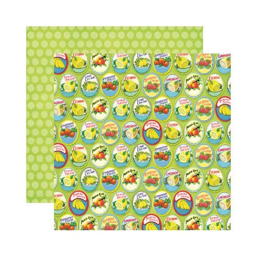 Reminisce - Labels Classique Collection - 12 x 12 Double Sided Paper - Citron