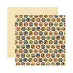 Reminisce - Labels Classique Collection - 12 x 12 Double Sided Paper - Festive Cake