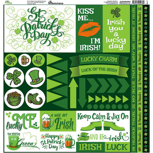 Reminisce - Luck of the Irish Collection - 12 x 12 Cardstock Stickers - Elements