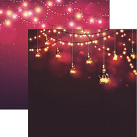 Reminisce - Light It Up Collection - 12 x 12 Double Sided Paper - Vintage Lights