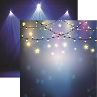 Reminisce - Light It Up Collection - 12 x 12 Double Sided Paper - Starry Lights