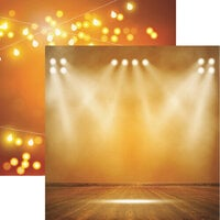 Reminisce - Light It Up Collection - 12 x 12 Double Sided Paper - Up In Lights